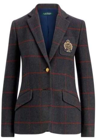 Ralph Lauren tweed crest blazer