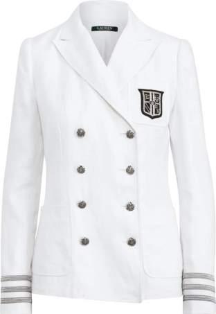Ralph Lauren white crest blazer