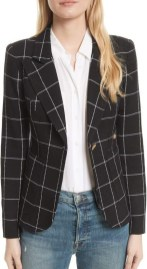 Smythe windowpane elbow patch blazer