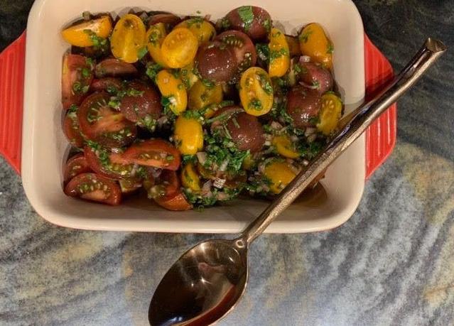 Heirloom Cherry Tomato Salad // @2souschefs