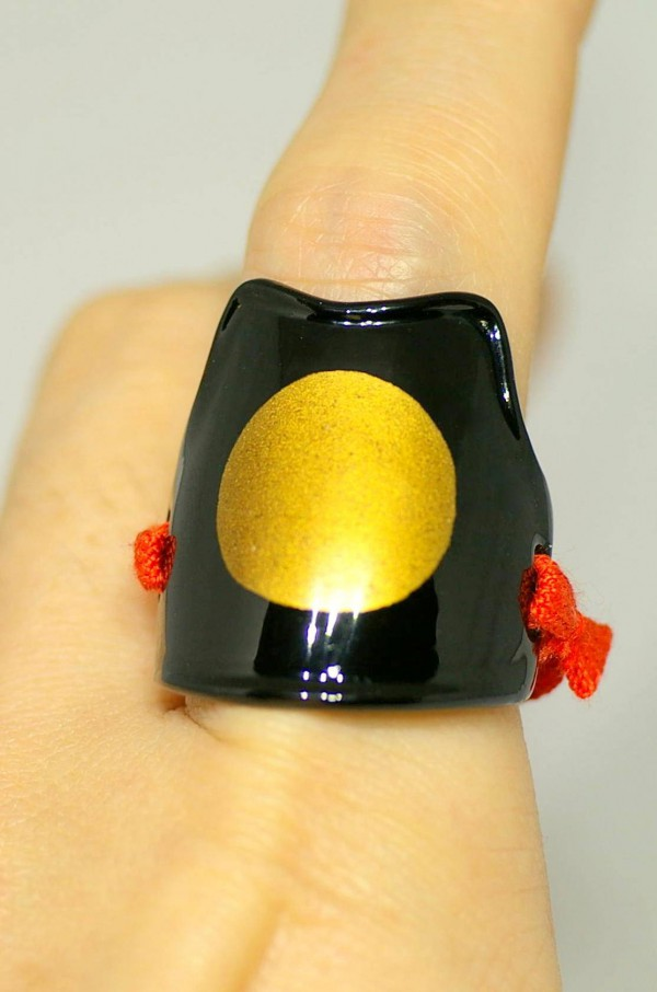 Samurai armor ring black