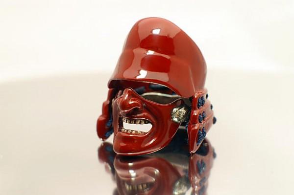 """013 SAMURAI RING """"KABUTO"""" red"""