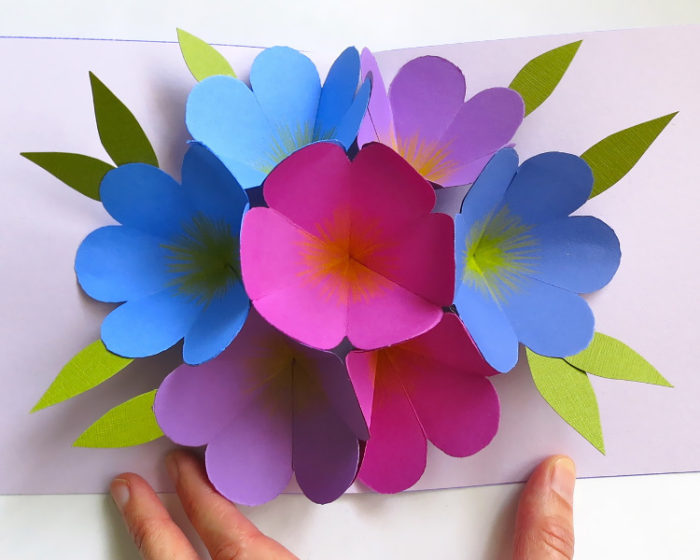 Объемные открытки с цветами к 8 марта
