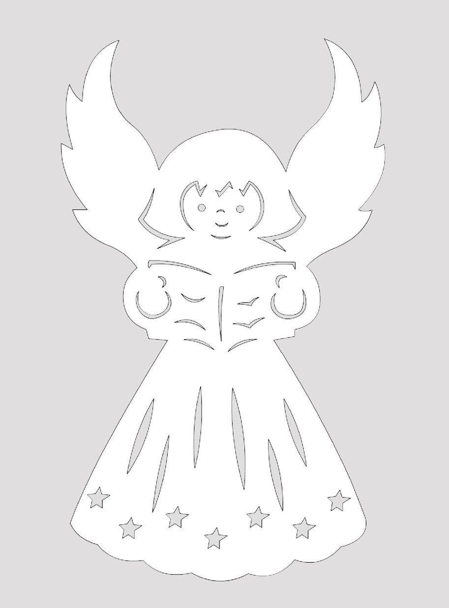 Ангелочки из бумаги своими руками шаблоны вырезать