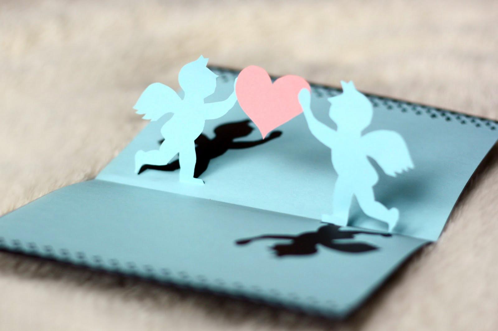 Оригами, объемная открытка на день святого