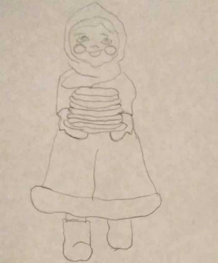 Масленица картинки карандашом нарисовать
