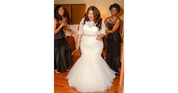 Lace Mermaid Plus Size Wedding Dresses Bridal Gowns 3030094