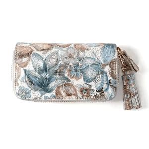 スタイルオンバッグ 華やかな花柄の本皮キーケース