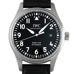 IWCパイロットウォッチ IW327009 マーク18 ブラックレザー