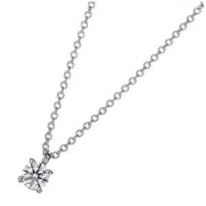 TIFFANY ダイヤモンド 0.12ct プラチナ ソリティア ブリリアントカット ダイヤモンド ペンダント ネックレス 14001557