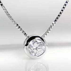 一粒ダイヤネックレス 一粒ダイヤペンダント プラチナ ジュエリー