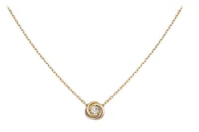 カルティエ トリニティ ダイヤモンドネックレス ホワイトゴールド イエローゴールド ピンクゴールド B7224900