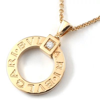 ブルガリ BVLGARI ネックレス ブルガリブルガリ サークル ロゴ 1ポイント ダイヤモンド
