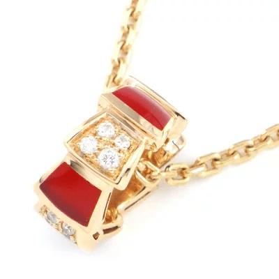 ブルガリ BVLGARI ネックレス セルペンティ ヴァイパー スネーク カーネリアン ダイヤモンド