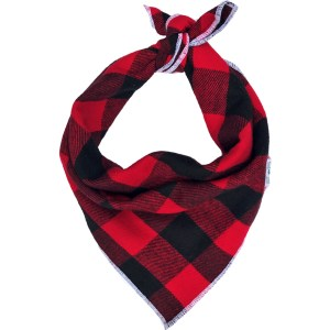 CLASSIC BLACK AND RED LUMBERJACK PLAID DOG BANDANA