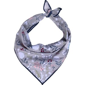 Grey WINTER floral dog bandana