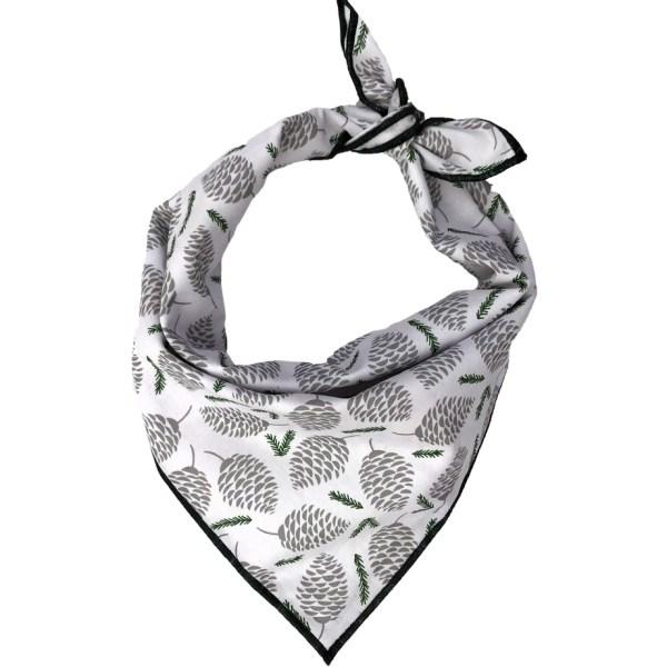 winter pinecone dog bandana