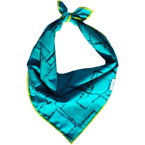 luck of tuck geometric pattern adventure dog bandana