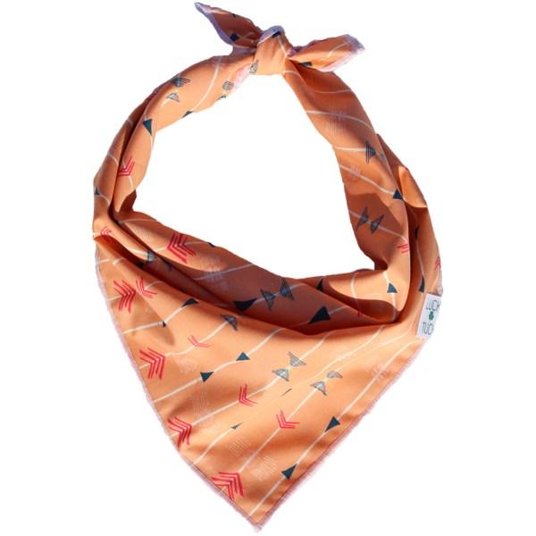 aztec print peach dog bandana