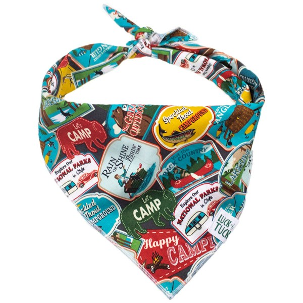adventure patches dog bandana