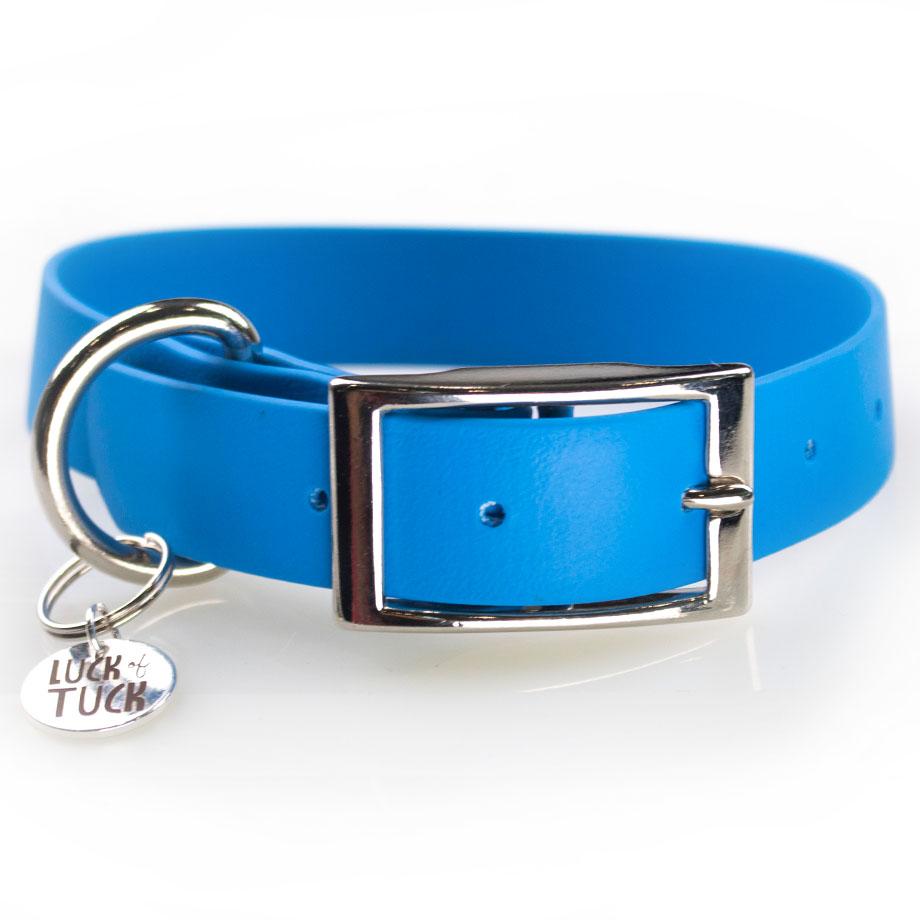 Sky Blue waterproof dog collar