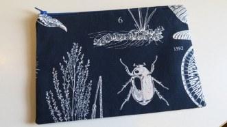 Botanical print pouch