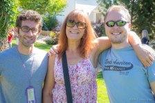 Wonderful Loveland artists David Young and Kim Leszczynski, and my sweet hubby, Jason!