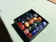 Marbley goodness. They're slightly bigger than standard marbles and apparently that's a good thing. :)