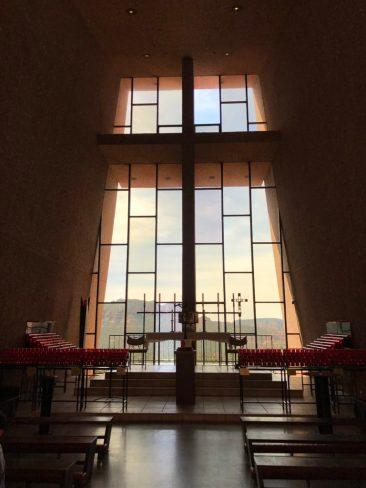 interior of Chapel of the Holy Cross Sedona Arizona