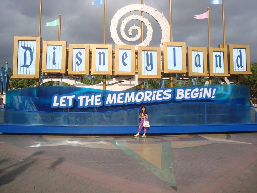 Disneyland sign - Let the Memories Begin