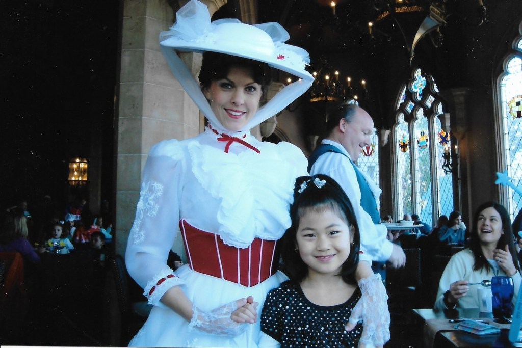 Baby Bug & Mary Poppins Cinderella's Royal Table breakfast at the castle WDW