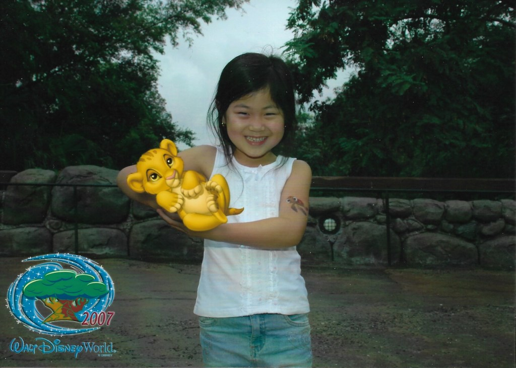 Baby Bug and Simba Animal Kingdom Walt Disney World photo pass