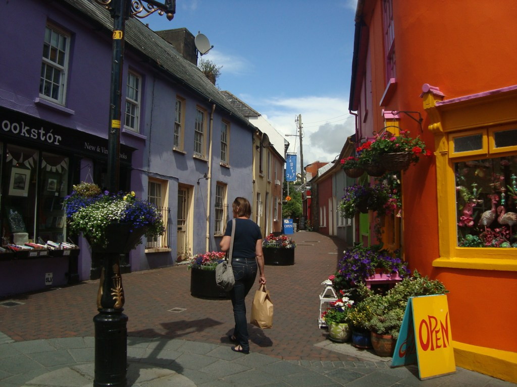 colourful shops of Kinsale Ireland
