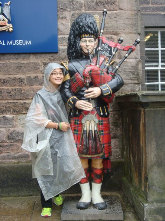 Baby Bug and a Bagpiper