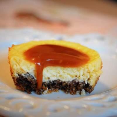 mini cheesecake caramel
