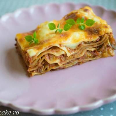 Lasagna cu vinete si dovlecei