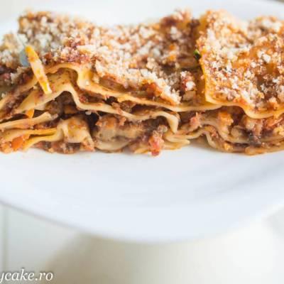 Sos de ciuperci si o lasagna