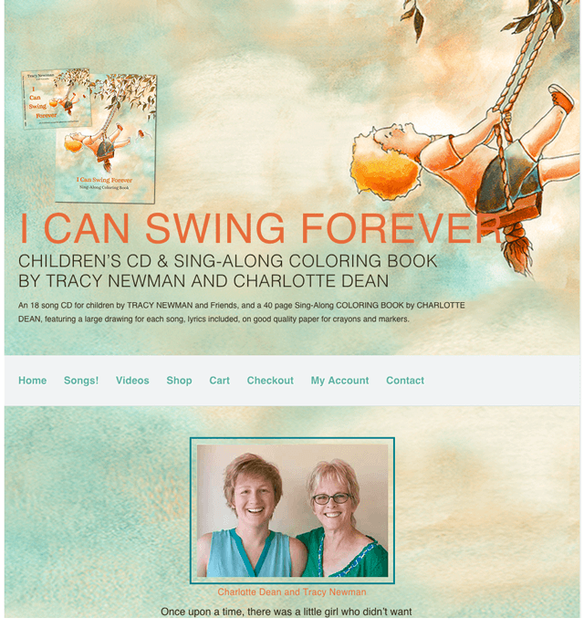ecommerce homepage of I Can Swing Forever, designed, built, powered by Lucky Cat Creative