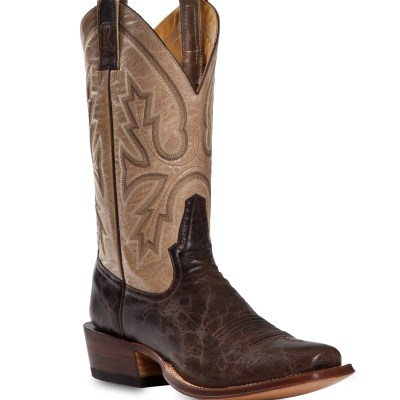 Rod Patrick Vesuvio Bone Brown Bison Blunt Toe Boot RPM122