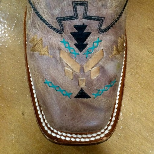 Corral Aztec Embroidered Square Toe Boot A3063