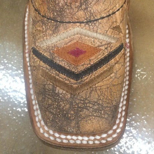Kid's Corral Cowhide Embroidery Square Toe Boot A3155