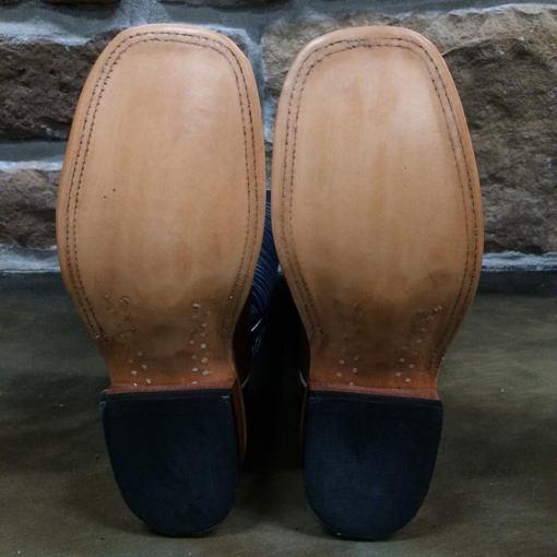 Women's Anderson Bean Rum Brown Smooth Ostrich Regal Blue Boot