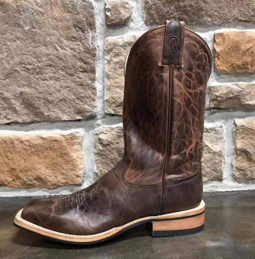 Rod Patrick Mocha Bison Square Toe Boot 15279