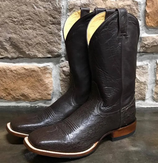 Rod Patrick Nicotine Smooth Ostrich Square Toe Boot 15289