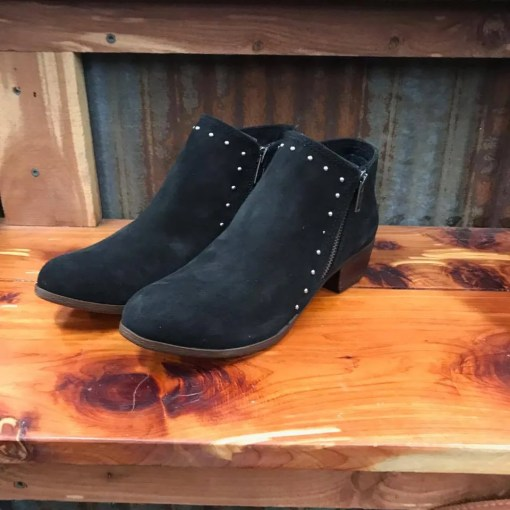 Ladies Minnetonka Black Brie Boot 1519