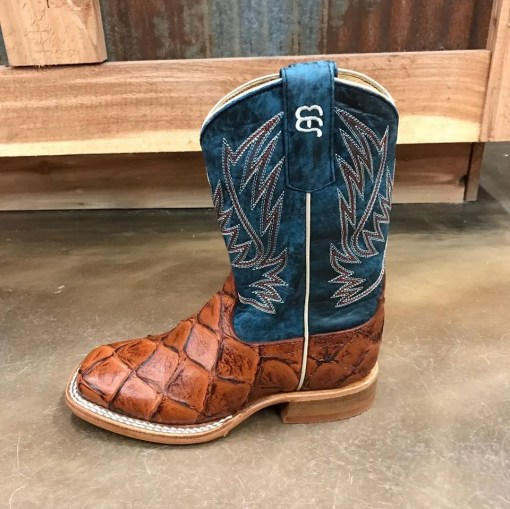 Kid's Anderson Bean Imitation Bass Boot With Regal Blue Tops HPY-1823, K-1823