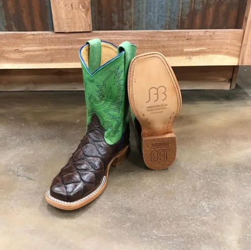 Kid's Anderson Bean Green Explosion Imitation Bass Boot HPY-1824, K-1824