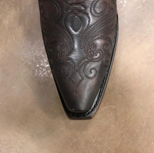 Women's Corral Cognac Embroidered Snip Toe Boot C3278