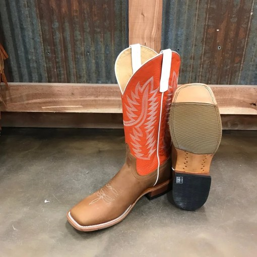 Men's Horse Power Honey Crazy Horse Square Toe Boot