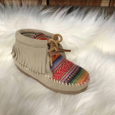 Minnetonka Child's Frisco Boot-Stone
